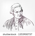 james cook vector sketch... | Shutterstock .eps vector #1353900737