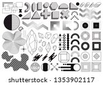 mega set of memphis design... | Shutterstock .eps vector #1353902117