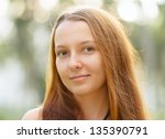 portrait of young beautiful... | Shutterstock . vector #135390791