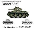 Постер, плакат: WW2 German Panzer 38 t