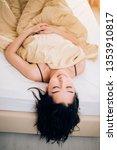 good morning. relaxed nice... | Shutterstock . vector #1353910817