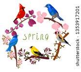 vector illustration of blooming ...   Shutterstock .eps vector #1353917201
