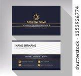 business model name card black... | Shutterstock .eps vector #1353926774