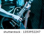 Blurred Image Of Guitarist On...