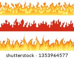 fire banner. flame border...   Shutterstock .eps vector #1353964577