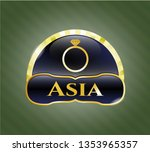 golden emblem or badge with... | Shutterstock .eps vector #1353965357