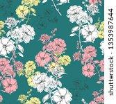 trendy delicate blooming hand... | Shutterstock .eps vector #1353987644