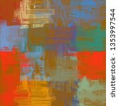 abstract background texture. 2d ... | Shutterstock . vector #1353997544