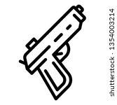 police pistol icon. outline... | Shutterstock . vector #1354003214