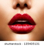 sexy lips. beauty red lips... | Shutterstock . vector #135405131