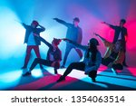 group of diverse young hip hop... | Shutterstock . vector #1354063514