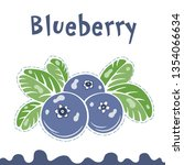 blueberry vector illustration ... | Shutterstock .eps vector #1354066634