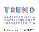 diagonal line alphabet   number ...   Shutterstock .eps vector #1354084931