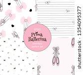 dancing ballerina legs tiny... | Shutterstock .eps vector #1354095377