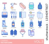 camping icons including...   Shutterstock .eps vector #1354097837