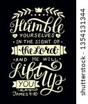Hand Lettering Humble Yourself...