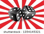 two dice. to gamble or gambling ... | Shutterstock .eps vector #1354145321