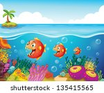 illustration of a school of... | Shutterstock . vector #135415565