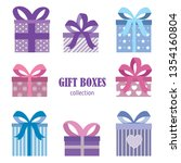 gift bvoxes collection.... | Shutterstock .eps vector #1354160804