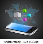 smartphone diagram illustration ... | Shutterstock . vector #135418385