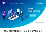 students e learning by... | Shutterstock .eps vector #1354198814