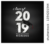 vector text for graduation... | Shutterstock .eps vector #1354201544