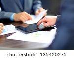 hands of people working with... | Shutterstock . vector #135420275