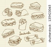 bread,bread roll,bun,burger,cafe,cheese,club sandwich,collection,cover,decoration,deli,delicatessen,design,doodle,drawing