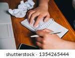the student is preparing for... | Shutterstock . vector #1354265444