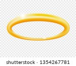 halo angel ring . holy 3d... | Shutterstock .eps vector #1354267781