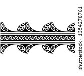 tattoo tribal maori pattern... | Shutterstock .eps vector #1354278761