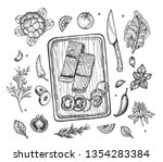 vector illustration of cooking... | Shutterstock .eps vector #1354283384