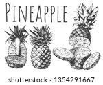 vector hand drawn set of... | Shutterstock .eps vector #1354291667