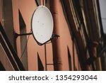 satellite dish on a residential ...   Shutterstock . vector #1354293044
