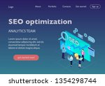 seo it specialists working with ... | Shutterstock .eps vector #1354298744