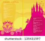 fairy tale book   silhouette of ... | Shutterstock .eps vector #135431597