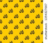 Black striped snake pattern seamless vector repeat geometric yellow for any design