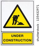 under construction signal  in... | Shutterstock . vector #135432971