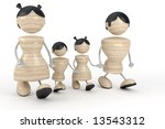 abstract big family | Shutterstock . vector #13543312