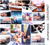 business people team collage.... | Shutterstock . vector #135433907