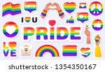 pride lgbtq  icon set  lgbtq ... | Shutterstock .eps vector #1354350167