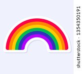 rainbow icon. lgbtq  related... | Shutterstock .eps vector #1354350191