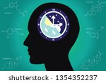 the circadian rhythms are... | Shutterstock .eps vector #1354352237