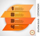 four steps for infographics... | Shutterstock .eps vector #135436064