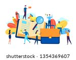online training courses vector... | Shutterstock .eps vector #1354369607