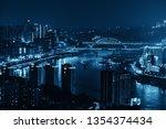 urban buildings bridge and city ... | Shutterstock . vector #1354374434