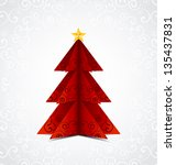 christmas tree illustration.... | Shutterstock .eps vector #135437831