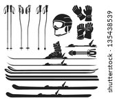 Skiing Gear Set   Assortment O...