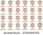 businessman various expressions ... | Shutterstock .eps vector #1354394741