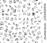 hand drawn seamless pattern... | Shutterstock .eps vector #1354404944